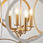 Hunmanby - White and Gold Circular Frame Pendant