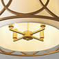 Dale - Luxury Drum Feature Pendant - Gold & White