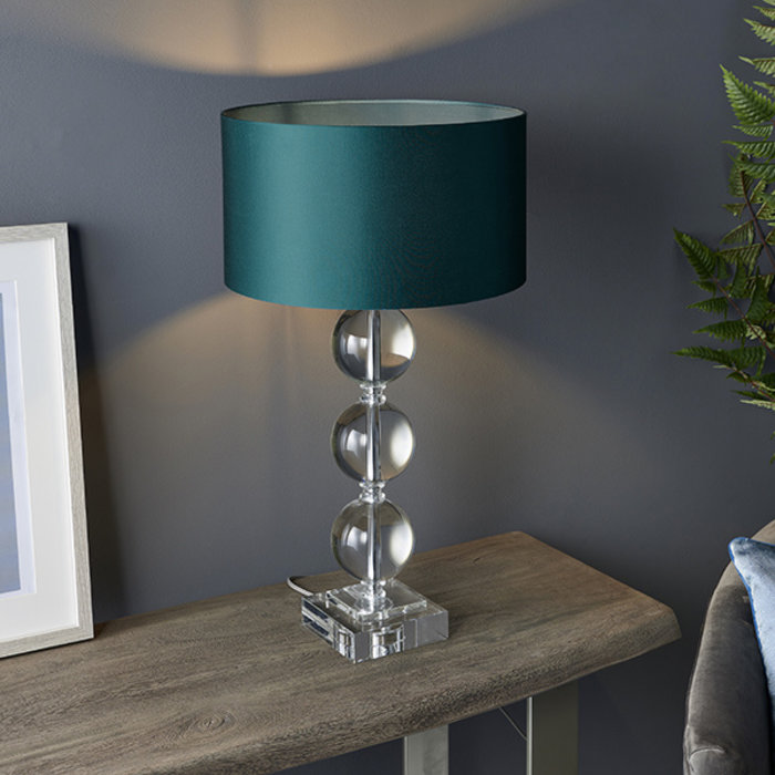 Mount - Three Sphere Crystal Glass Table Lamp Base