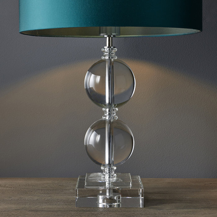 Mount - Crystal Glass Two Sphere Table Lamp
