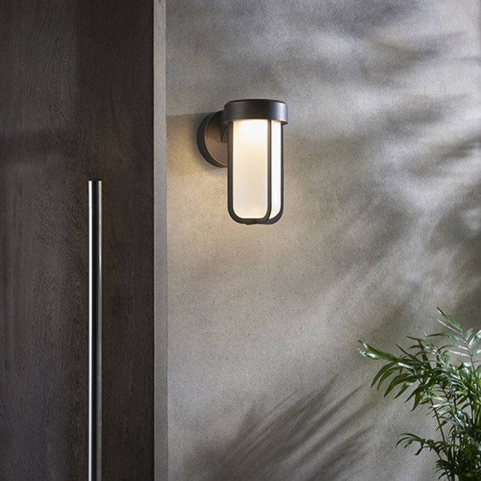 Ayton - Luxury Brushed Bronze & Frosted Glass LED Outdoor/Bathroom Wall Light