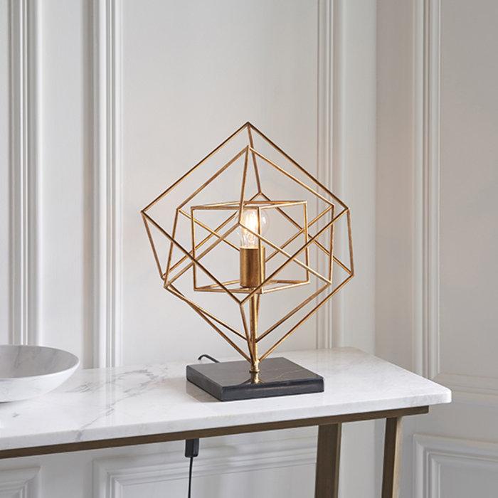 Ramshill - Gold Leaf Angular Framed Table Light