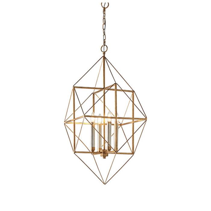 Ramshill - Large Gold Leaf Cage Multi Pendant Lantern
