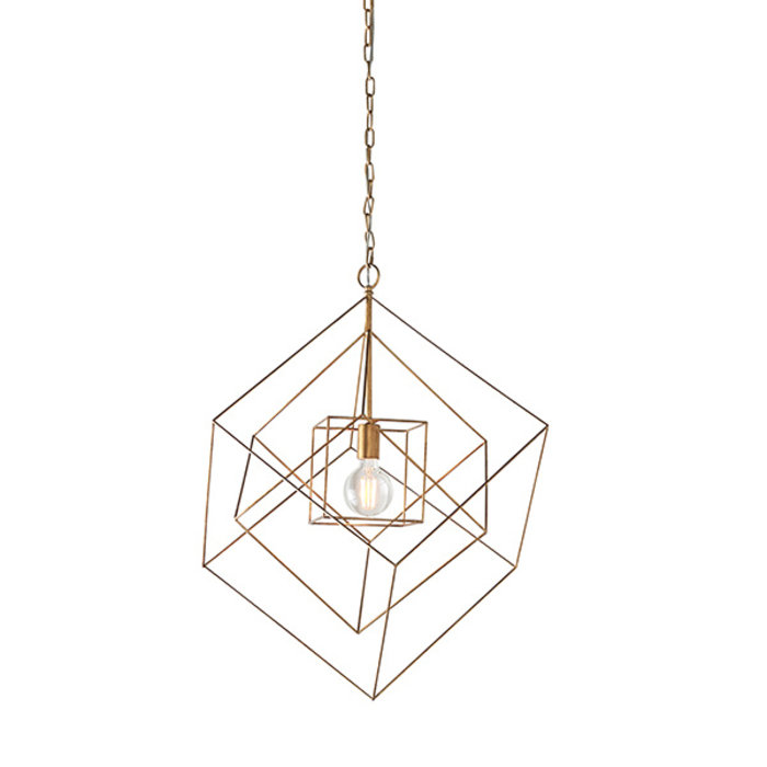 Ramshill - Large Gold Leaf Cage Single Pendant