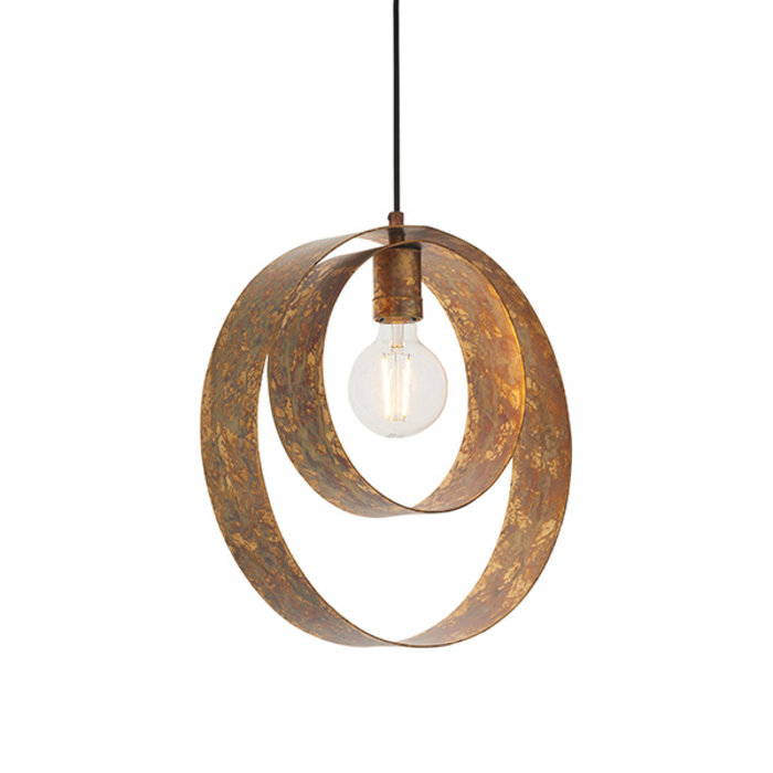 Ripon - Dappled Copper Single Pendant