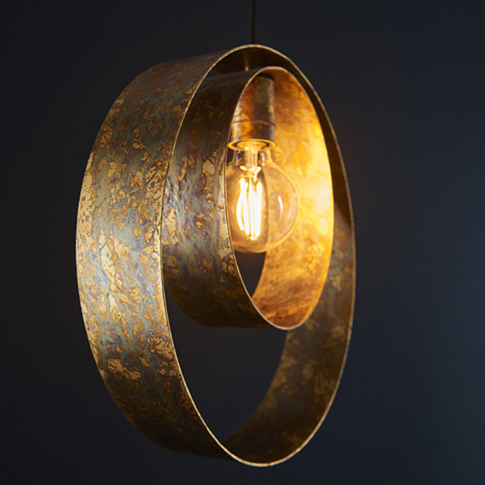 Ripon - Dappled Copper Single Pendant