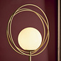 Dalby - Mid Century Brushed Gold Hoops Floor Light