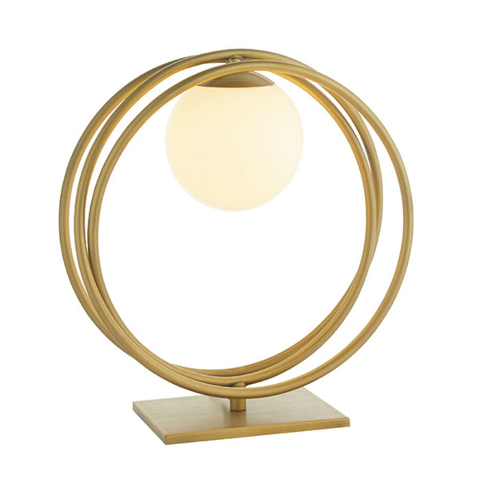 Dalby - Mid Century Brushed Gold Hoops Table Light