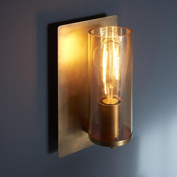Malton - Luxury Industrial Antique Brass Patina Wall Light