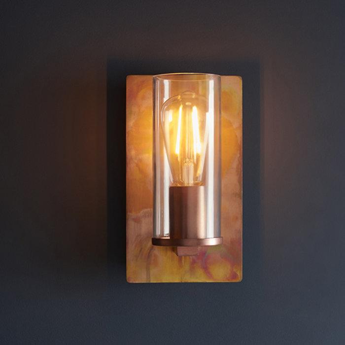 Malton - Luxury Industrial Copper Patina Wall Light