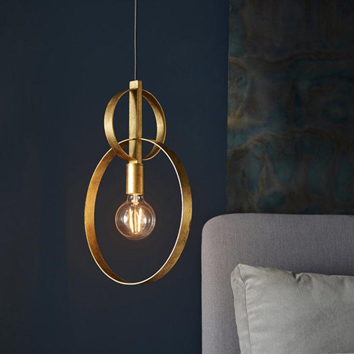 Crescent - Luxury Modern Circle Single Pendant - Gold Leaf