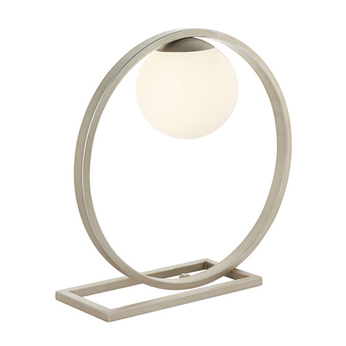 Cornelian - Mid Century Silver Ring Table Light