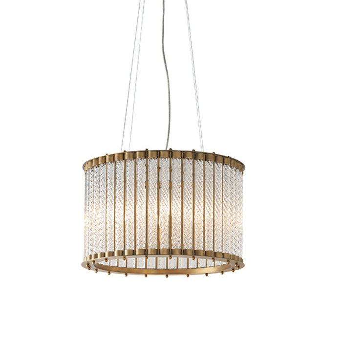 Whitby - Luxury Glass Rod Drum Feature Light