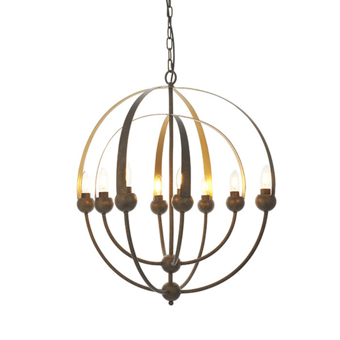 Wheatcroft - Aged Bronze Orbital Sphere Feature Light