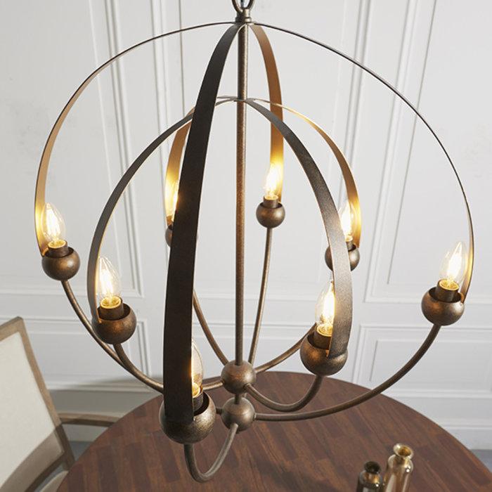 Wheatcroft -  Large Sphere Framed Pendant