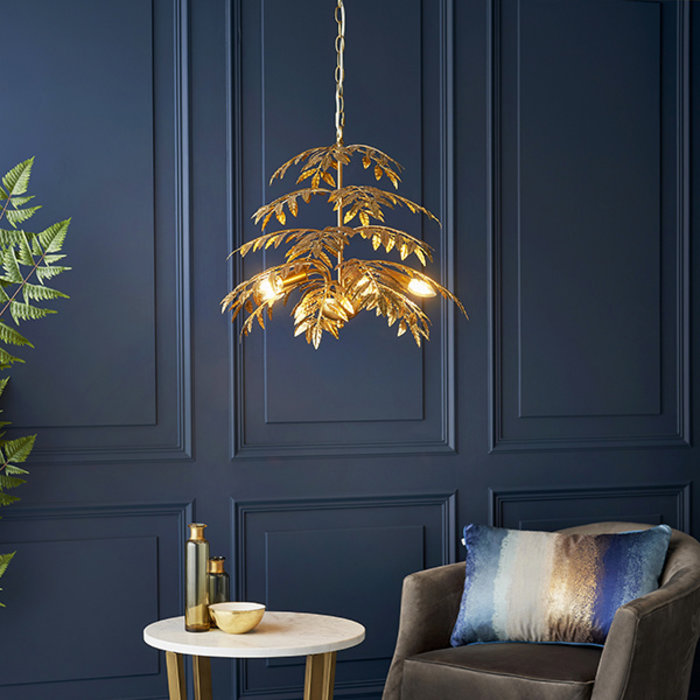 Newby - Tropical Canopy Chandelier in Gold