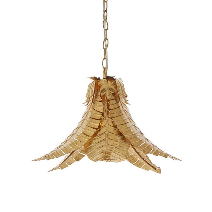 Irton - Tropical Palm Leaf Pendant - Gold