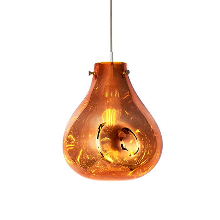 Seamer -  Reflective Melt Glass Pendant - Copper