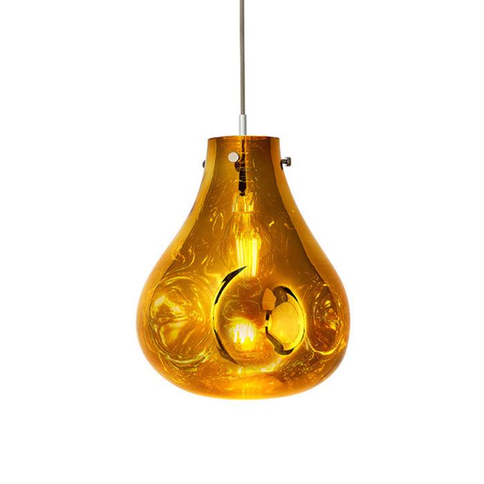 Seamer - Reflective Melt Glass Pendant - Gold
