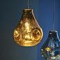 Seamer -  Metallic Gold Glass Pendant
