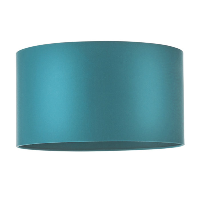 Mead - Satin Teal Drum Shade - Matching Lining