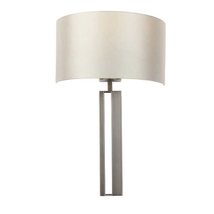 Vernon -  Bronze Slotted Wall Light with Mink Shade