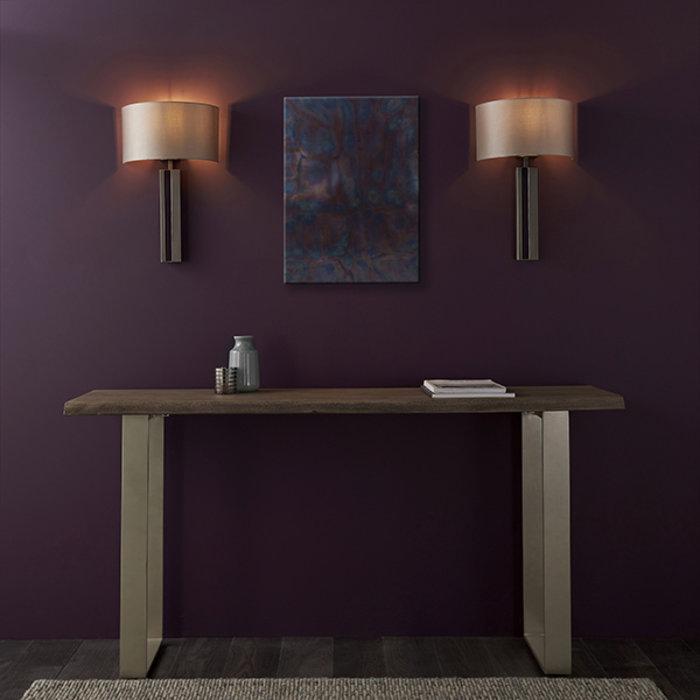 Vernon -  Modern Luxury Wall Light with Mink Shade - Bronze