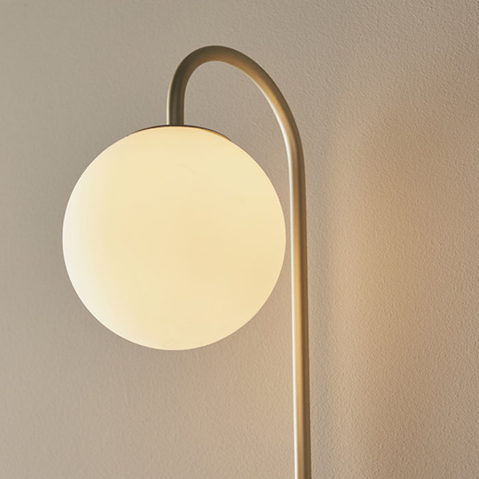 Alma - Easy Plug-in Mid Century Modern Shelf Wall Lamp - Champagne Painted