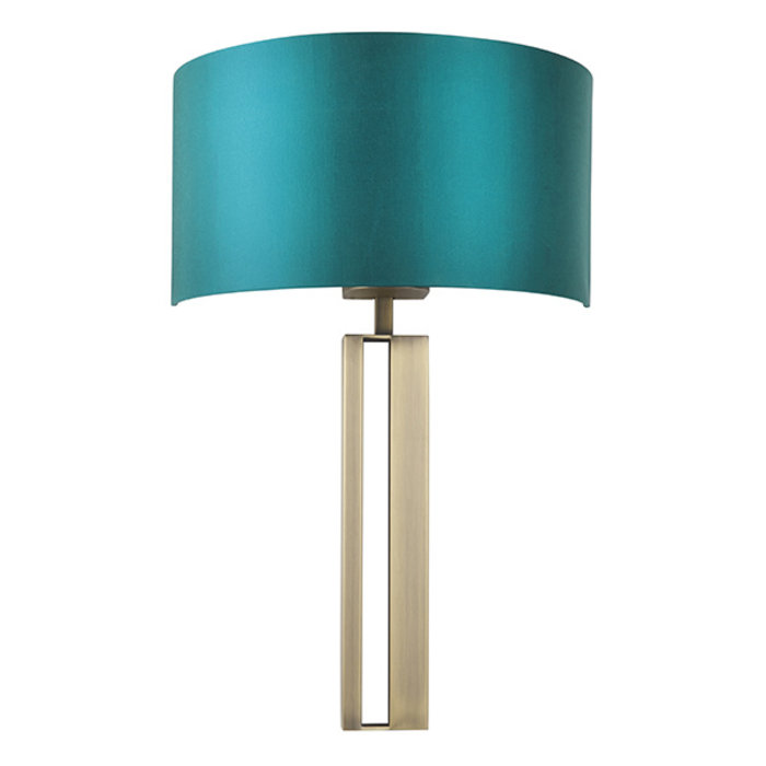 Vernon - Brass Modern Luxury Wall Light with Teal Shade