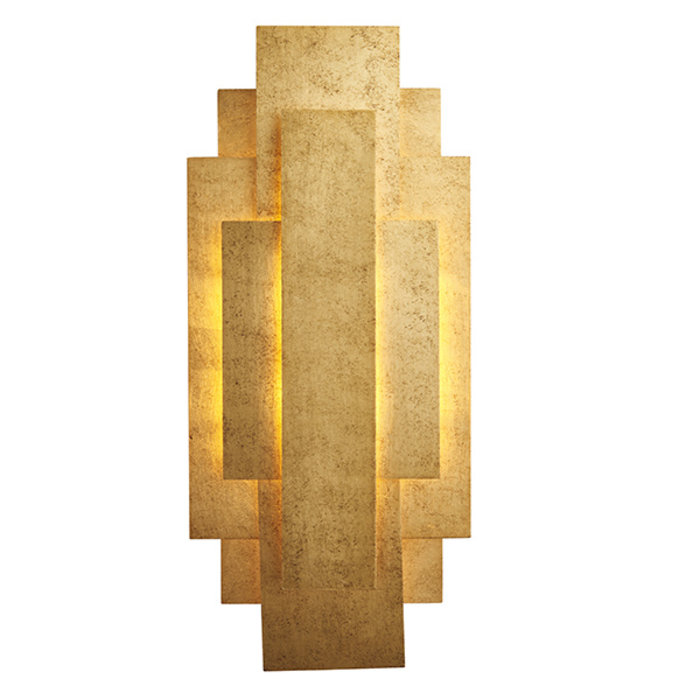 Belmont -  Layered Gold Leaf Modern Wall Light