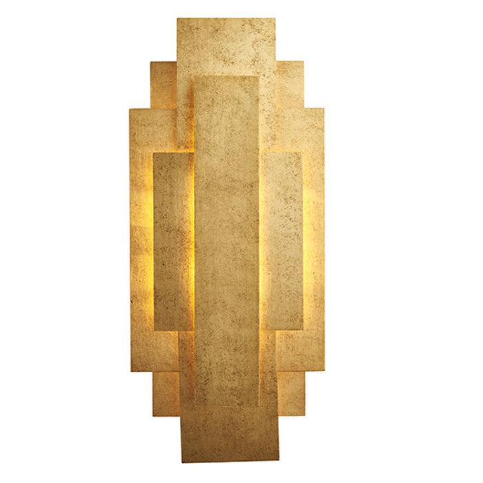 Belmont -  Rectangular Gold Panel Wall Light
