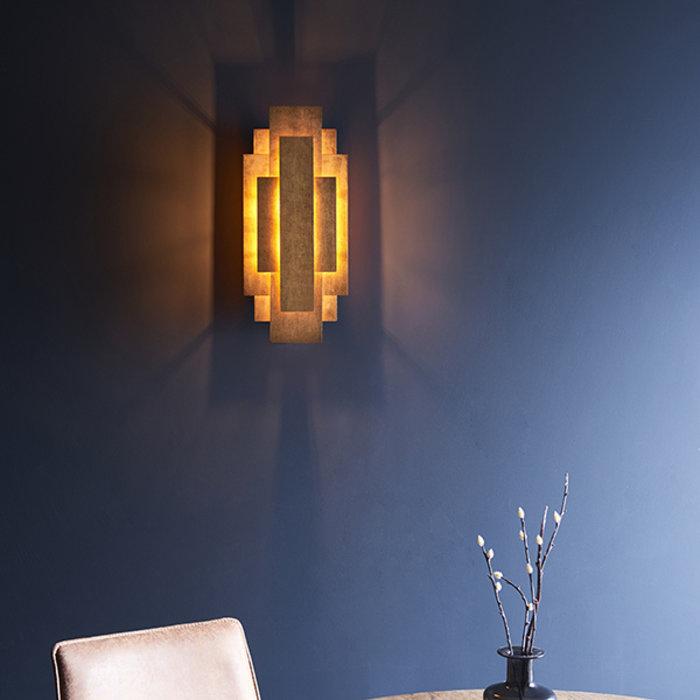Belmont -  Layered Gold Leaf Modern Wall Light
