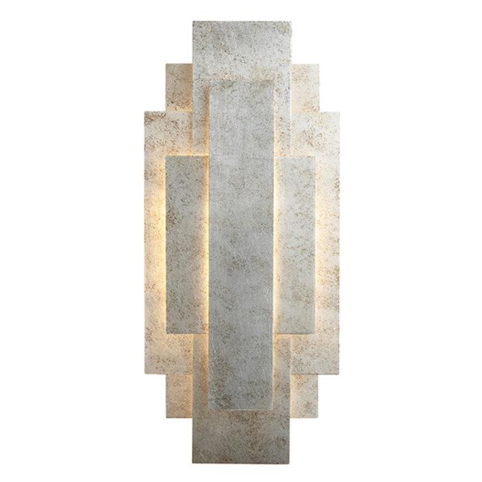 Belmont - Rectangular Silver Panel Wall Light