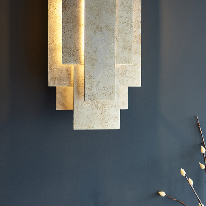 Belmont - Layered Silver Leaf Modern Wall Light