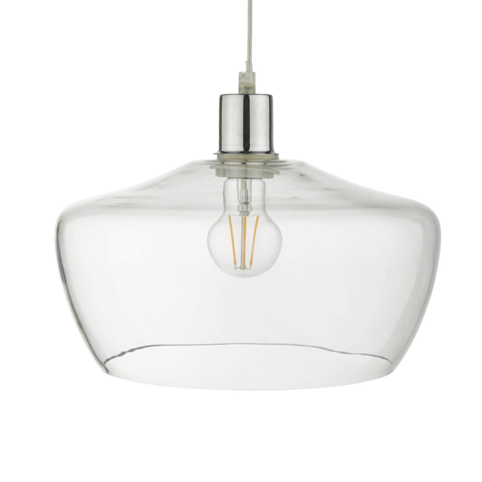 Norton - Easy Fit Pendant Shade - Clear Glass