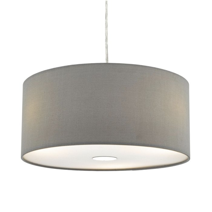 Slate Grey Easy Fit Drum Pendant Shade - 40cm