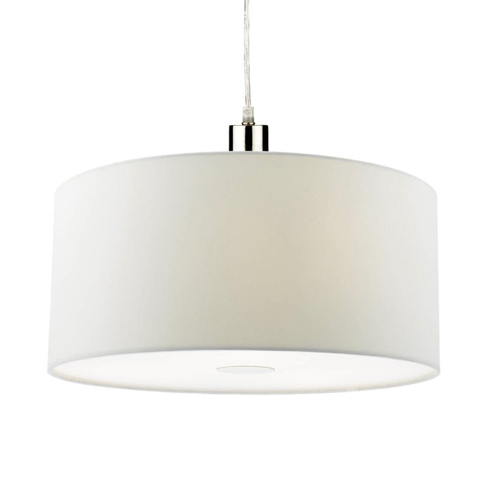 Porcelain White Easy Fit Drum Pendant Shade - 40cm
