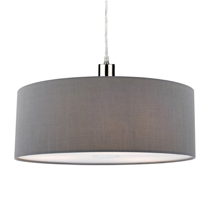 Slate Grey Easy Fit Drum Pendant Shade - 60cm