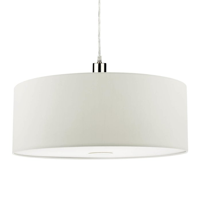 Porcelain White Easy Fit Drum Pendant Shade - 60cm