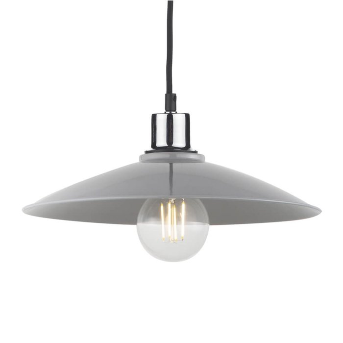 Yufus - Grey Gloss Easy Fit Pendant Shade