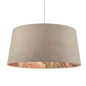 Coral - Easy Fit Grey Drum Pendant Shade - 49cm