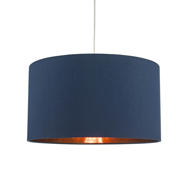 Dominic - Easy Fit Navy Blue & Copper Pendant Shade - 40cm