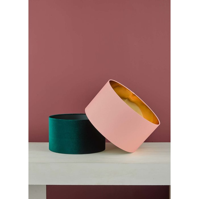Dominic - Easy Fit Pink & Copper Pendant Shade - 40cm