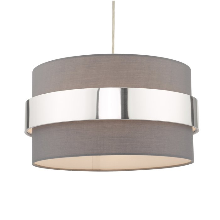 Sash - Modern Grey & Chrome Easy Fit Shade