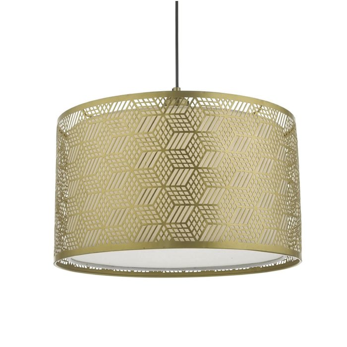 Munro  - Geometric Gold Drum Easy Fit Shade
