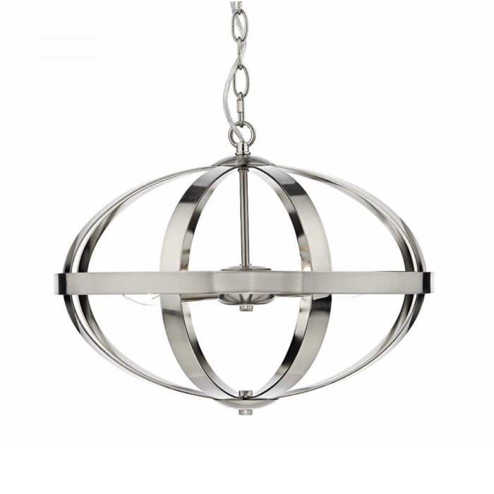 Industrial Satin Chrome Cage - Feature Light