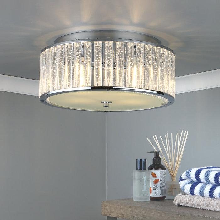 Seton- 4 Light IP44 Flush Ceiling Bathroom Light