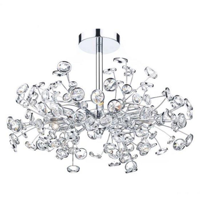 Oberoi - Crystal Burst Semi Flush Ceiling Light