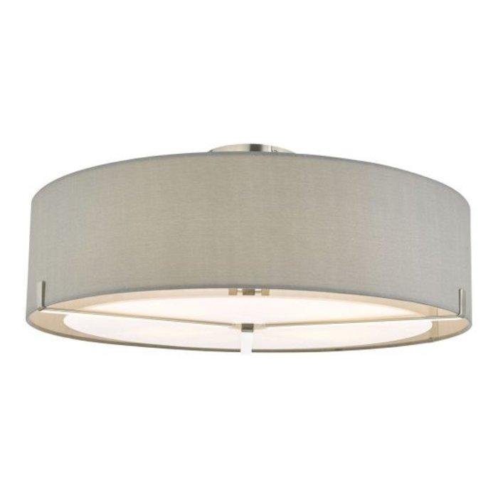 Santino - Semi Flush Grey Drum Feature Light