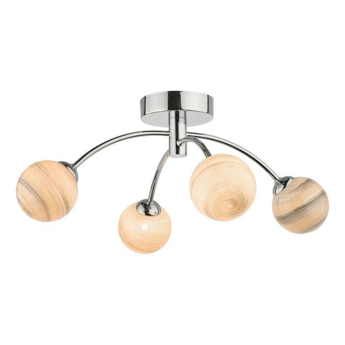 Swirl - Art Glass 4 Light Semi Flush Ceiling Light